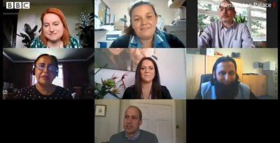 The Duke of Cambridge spoke to a group of carers via a video call.