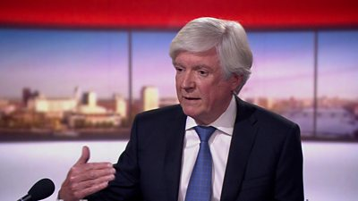 The BBC's Director General Tony Hall speaking on The Andrew Marr Show