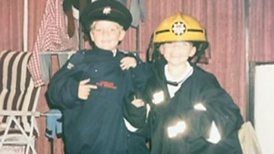 Jack and Tom Binder as boys