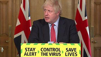 Boris Johnson at press briefing