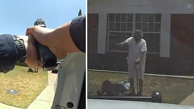 Woman comes to grandson's aid during arrest