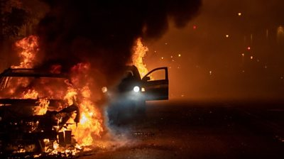 Car on fire in Minneapolis