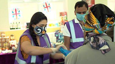 Volunteers at foodbank