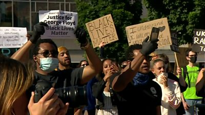 Protest in Coventry over George Flloyd's death