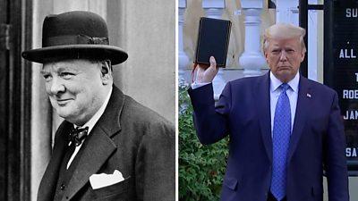 Winston Churchil and Donald Trump