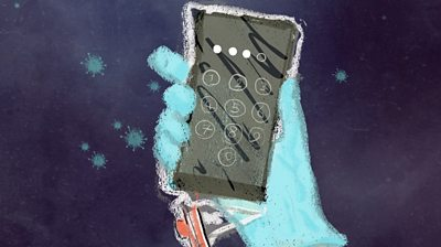 Illustration of a phone
