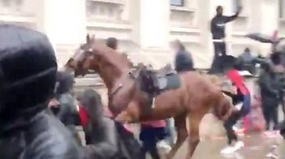 Police horse bolts