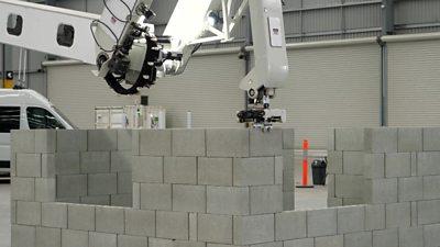 A bricklaying robot