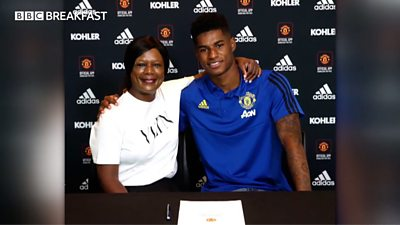 Rashford opens up about his childhood and reliance on schemes like that