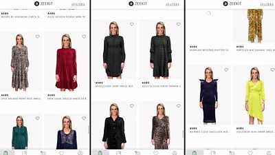 Lara Lewington in a variety of virtual clothes