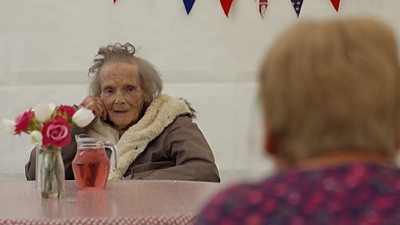A care home is reuniting loved ones with socially distanced garden visits.