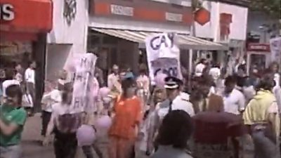 Pride march in 1980s