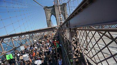 March on Brooklyn Bridge