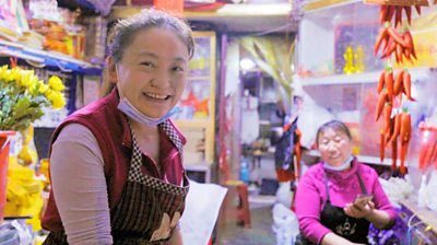 Shopkeeper in Wuhan