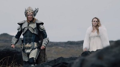 Will Ferrell and Rachel McAdams in The Story of Fire Saga
