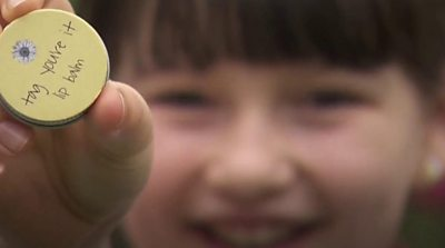 Ten-year-old Leila, from Greater Manchester, uses locally-produced beeswax