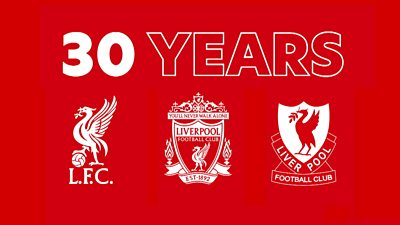 30 years since Liverpool last won the league