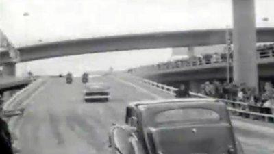The Queen Mother opened the Kingston Bridge 50 years ago today.