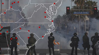 Teargas use across the US