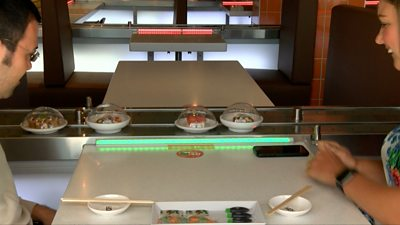 Yo! Sushi conveyor belt