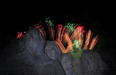 Fireworks at Mount Rushmore