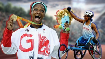 GB Paralympians Kare Adenegan and Kadeena Cox