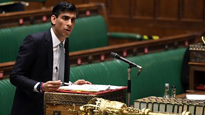 Chancellor Rishi Sunak giving his statement in the House of Commons
