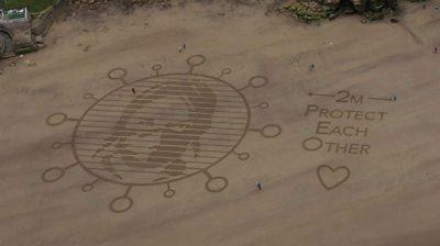 Sand mural