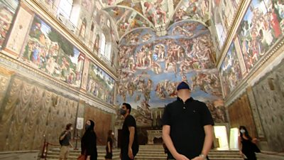 Quentin Somerville at the Vatican
