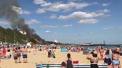 Bournemouth beach fire