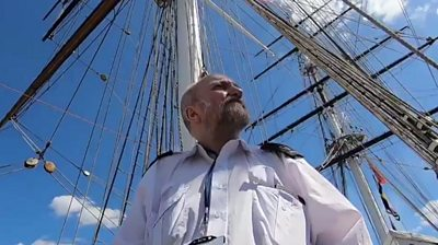 Alex McDonald is a security guard for the Cutty Sark, a historic clipper ship, in Greenwich, London.