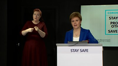 Nicola Sturgeon said the government's focus is on those shielding and getting schools back open