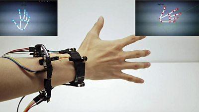 A hand-tracking wristband