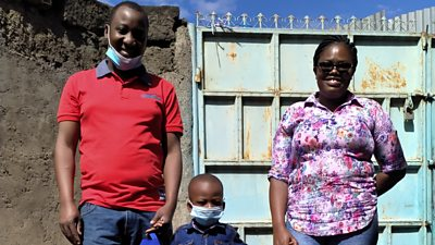 Kurian Omukimbizi had come to Nairobi for work, but was separated from his family when lockdown was announced.