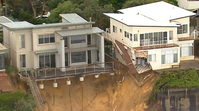 Homes with foundations eroded