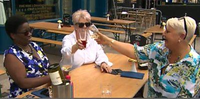Enjoying a drink again in Cardiff