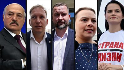 Belarus presidential election candidates