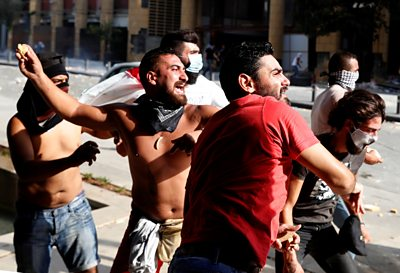 Police and protesters have clashed days after the explosion that rocked Beirut.