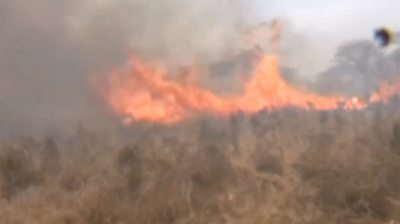 Bushfire in Tsavo National Park