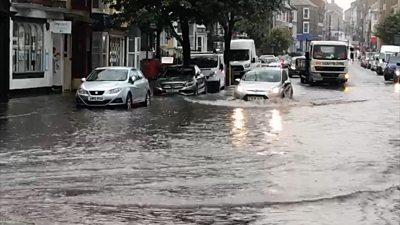 Flooded Aberystwyth