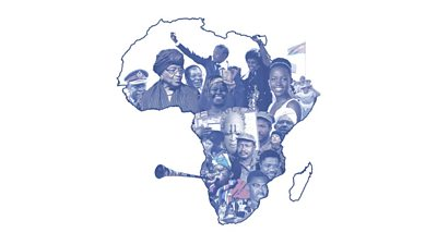 An image of the African continent