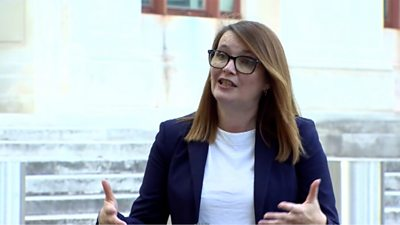 Kirsty Williams said students won't get grades lower than their AS-levels