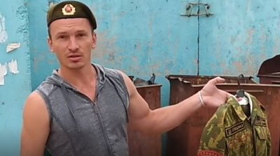 Belarus ex-special forces soldier binning uniform