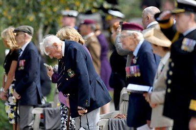 Veterans at the National Memorial Arboretum