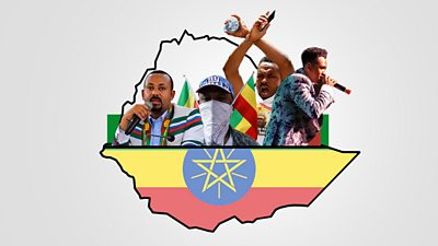 A composite image of key political figures in Ethiopia