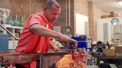 Chris Day's glass art career started just three years ago