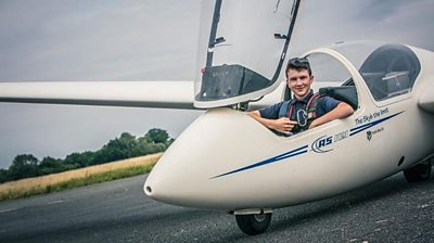 Jack in a glider plane