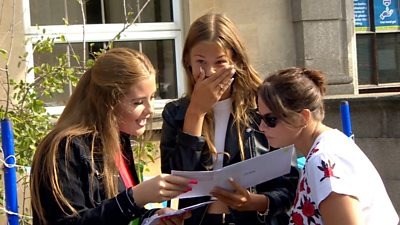 Students receive grades