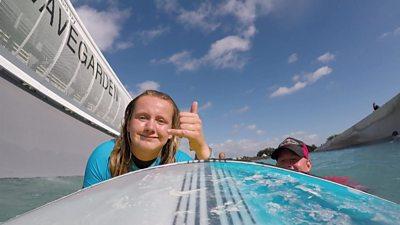 Charlotte surfing