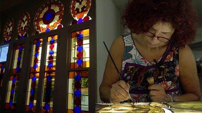 Beirut glass artist Maya Husseini